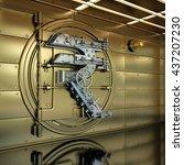 golden bank vault door....   Shutterstock . vector #437207230
