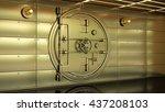 Golden Bank Vault Door. High...