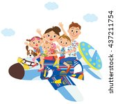 family vacation | Shutterstock .eps vector #437211754