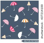 umbrella pattern | Shutterstock .eps vector #437214100