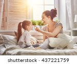 happy loving family. mother and ... | Shutterstock . vector #437221759