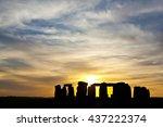 England   Stonehenge On Sunset