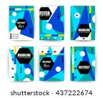 abstract background set.... | Shutterstock .eps vector #437222674