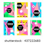 abstract background set.... | Shutterstock .eps vector #437222683