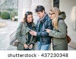 friends outdoors | Shutterstock . vector #437230348