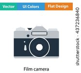 icon of retro film photo camera....