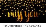 handwritten calligraphic gold... | Shutterstock .eps vector #437241463