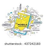 vector creative illustration of ... | Shutterstock .eps vector #437242183