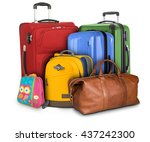 luggage consisting of large... | Shutterstock . vector #437242300