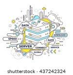 vector creative illustration of ... | Shutterstock .eps vector #437242324