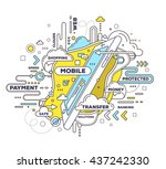 vector creative illustration of ... | Shutterstock .eps vector #437242330