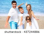 beach. | Shutterstock . vector #437244886