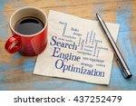 search engine optimization word ... | Shutterstock . vector #437252479