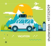 travel lifestyle concept... | Shutterstock . vector #437252929