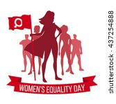 women's equality day | Shutterstock .eps vector #437254888