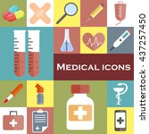 collection of medical icons | Shutterstock .eps vector #437257450