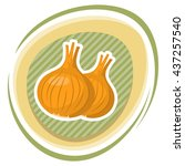 onion colorful icon | Shutterstock .eps vector #437257540