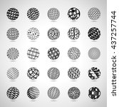 sphere icons set   isolated on... | Shutterstock .eps vector #437257744