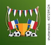 football background with french ... | Shutterstock .eps vector #437259124