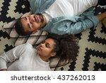 african american couple having... | Shutterstock . vector #437262013