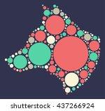 wolf press pot shape vector... | Shutterstock .eps vector #437266924