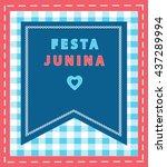 festa junina vector. brazilian... | Shutterstock .eps vector #437289994