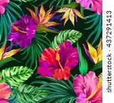 amazing vector tropical flowers ...
