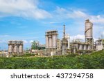 chemical industrial plant with... | Shutterstock . vector #437294758