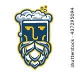 beer man logo brewer | Shutterstock .eps vector #437295094