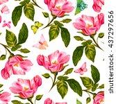 a seamless background pattern... | Shutterstock . vector #437297656