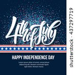 american independence day... | Shutterstock .eps vector #437297719