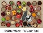 super food selection for cold... | Shutterstock . vector #437304433