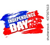 american independence day... | Shutterstock .eps vector #437307613