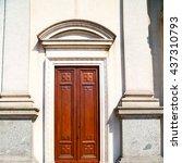old door in italy land europe... | Shutterstock . vector #437310793