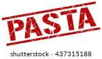 pasta stamp.stamp.sign.pasta. | Shutterstock .eps vector #437315188