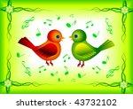 two birds | Shutterstock .eps vector #43732102