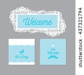 baby announcement card  it's a... | Shutterstock .eps vector #437321794