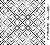 black and white geometric... | Shutterstock .eps vector #437323060