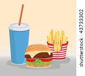hamburger menu illustration ... | Shutterstock .eps vector #43733302
