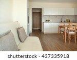 studio apartment interior   Shutterstock . vector #437335918