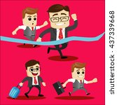 set of manager character or... | Shutterstock .eps vector #437339668