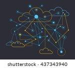 data communications | Shutterstock .eps vector #437343940