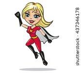 supergirl character. woman... | Shutterstock .eps vector #437346178