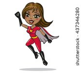 supergirl character. woman... | Shutterstock .eps vector #437346280