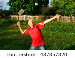 the older people lead an active ... | Shutterstock . vector #437357320