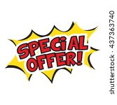 special offer banner design.... | Shutterstock .eps vector #437363740