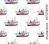 seamless pattern water transpor.... | Shutterstock .eps vector #437378950
