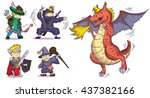 characters for the game and... | Shutterstock .eps vector #437382166