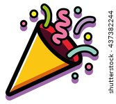 vector party popper isolated on ... | Shutterstock .eps vector #437382244