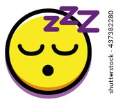 vector sleeping face isolated... | Shutterstock .eps vector #437382280